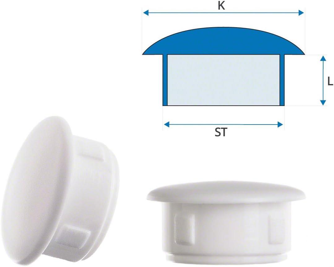 0,94x0,79 inch 50 pcs Black Cover Blanking Plugs Plastic Plugs Plug for Fixing Holes 24x20 mm