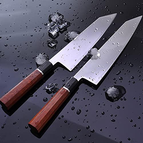 Chef Knife, Chef Kitchen Knife Japanese HAP40 Steel Fish Filleting Professional Kiritsuke Sashimi Sushi Gyuto Knives with Octagon Handle BY KKZY (Kitchen Knife Size : 8 inch)