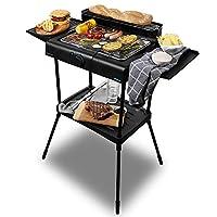 Cecotec Barbacoa eléctrica PerfectCountry BBQ con 2000 W de Potencia y Revestimiento RockStone (con Patas)
