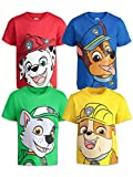 Paw Patrol Toddler Boys 4 Pack T-Shirts Marshall Chase Rocky Rubble 5T