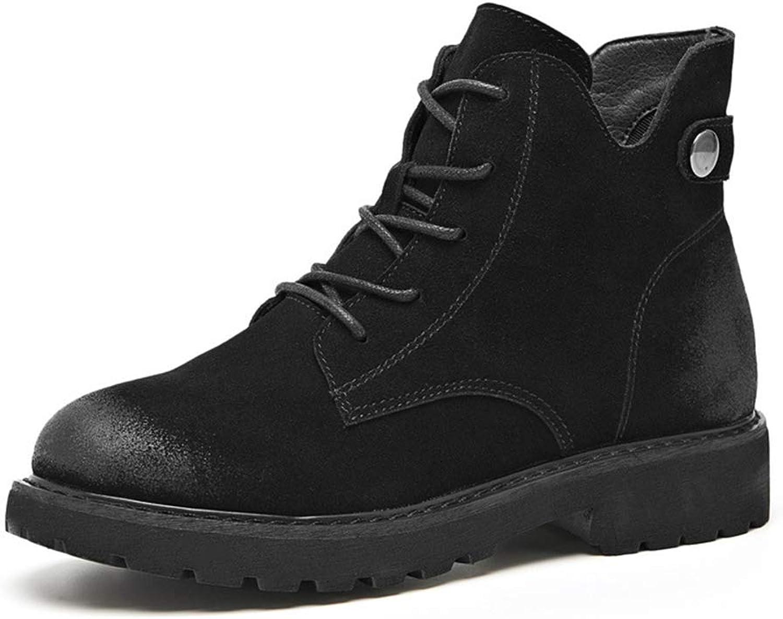 BeautyOriginal Women's Casual Slip On Open Cut Ankle Martin Boots