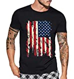 USA Flag Mens 4th of July Shirt - Adul American Graphic Vintage Flag Men Tee Shirt (XS)