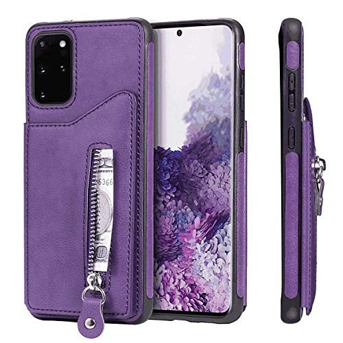 Why Should You Buy Leather Cover Compatible with iPhone X, Card Holders Premium Kickstand Purple Wal...