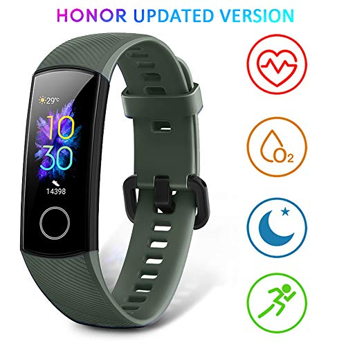 HONOR Band 5 Activity Tracker, Uomo Donna Smartwatch Orologio Fitness Cardiofrequenzimetro da Polso Impermeabile Smart Watch 0.95 Pollice Schermo a Colori,Verde