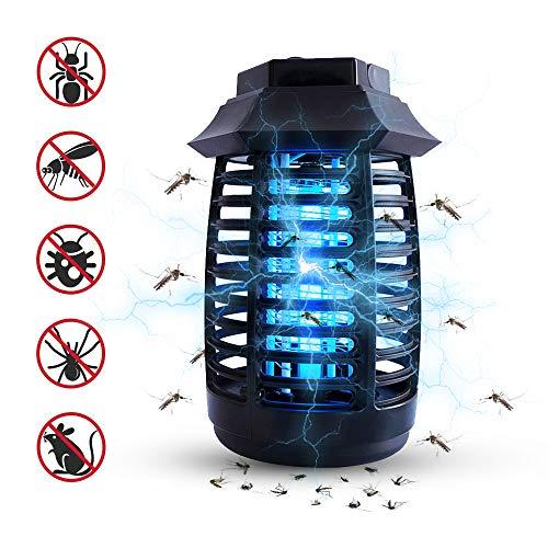BBTWO Lámpara Mosquito Electrico, Lámpara antimosquitos UV Luz Lámpara, Electrico Lámpara Anti Mosquitos para la Cocina la Sala de Estar el Cuarto de los Niños, Negro