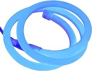 XUNATA 6.6ft LED Neon Rope Light, DC 12V 2835 Round Tube Flexible 360 Degree LED Neon Strip Lights, 240 Units LED Waterproof Neon Rope Light for Decoration(Blue)