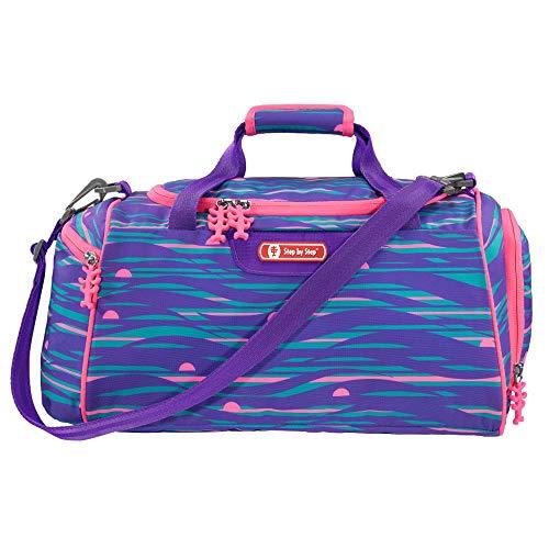 """Step by Step Sporttasche """"Shiny Dolphins"""", blau/lila, mit Nasswäschefach, Abnehmbarer Tragegurt, Verstellbarer Schultergurt, für Mädchen 1. Klasse, 13L"""