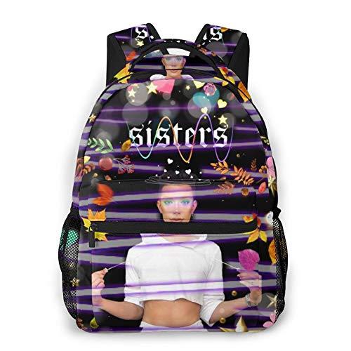 Unisex Casual Backpack James-Charles Sisters Travel Loptop Backpack School Bag Casual Backpack