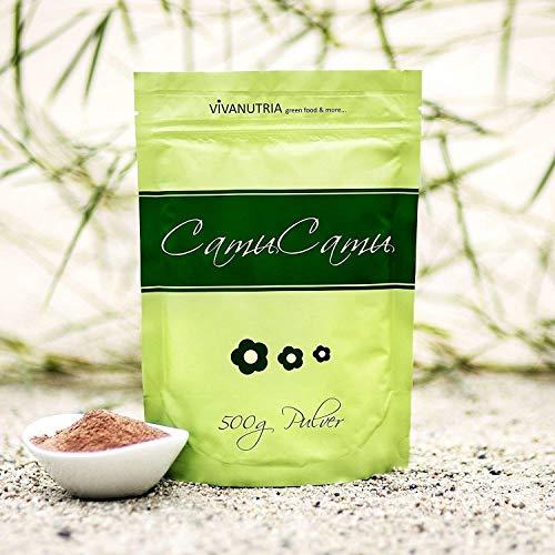 VivaNutria, 1kg Camu Camu Pulver, ohne Zusätze, natürliches Vitamin C, Beerenpulver für Smoothies, Superfood, aus kontrolliertem Anbau, laborgeprüft, schonende Verarbeitung, Rohkostqualität