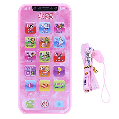 Baby Kids Music Toy Elettronico Early Learning Machine Learning Gadget Tiny Touch Musical Sound Telefono Toys Multifunzionale Bambini Smart Phone Toys Regalo per Kid Boys Girls(russo)