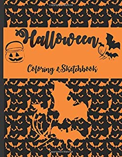 Halloween coloring & sketchbook: For Kids to use during the scary spooky season. Large sketchbook, 40 pages to draw or sketch pumpkins, witches, bats, ghosts or spiders