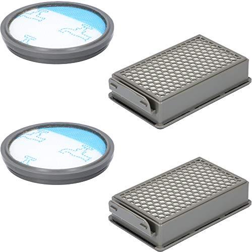 Set di 2 filtri per aspirapolvere Rowenta RO3731EA Compact Power Cyclonic, include 2 filtri, 1 cassetta filtro, 1 filtro rotondo, alternativa per ZR005901
