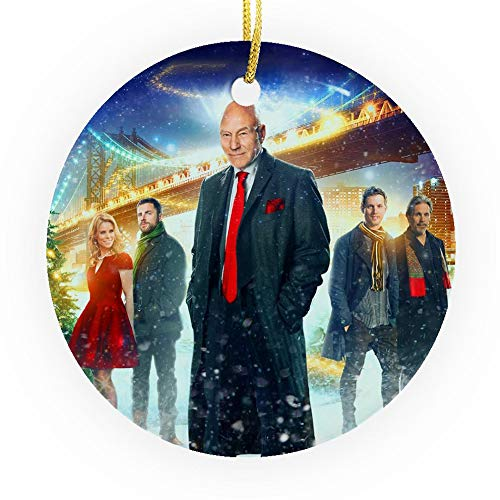 Bynight Tree Ornament New Yorkers trapped Elevators 2015 Comedy Film Poster Movie Lovers Gift Christmas Ornaments for Home Decoration Kit Outdoor/Indoor Plastic Round 1pc/Pack