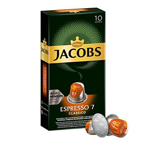 Jacobs Kapseln Espresso Classico - Intensität 7 - 50 Nespresso (R) kompatible Kaffeekapseln aus Aluminium 5er Pack (5 x 52 g)