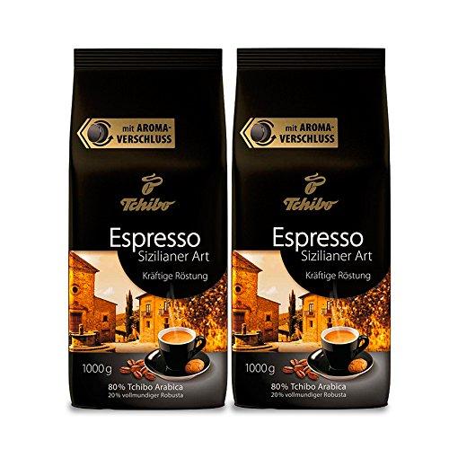 Tchibo Espresso Sizilianer Art ganze Bohne, 2 kg (2 x 1 kg)