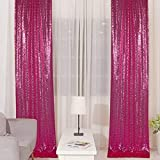 2PCS 2x8FT Sequin Backdrop Photography Background Curtain for Party Decoration