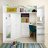 Mrsflatpack HIGH SLEEPER CABIN BED STAMFORD - M0860 (White)