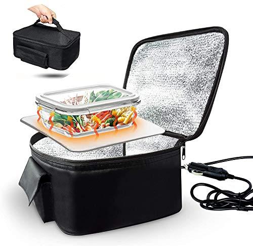 CFF Calentador Comida Portatil, 12V Mini Fiambreras Electricas Calienta Comida Coche Bolsa de Comida Caliente para Camión de Coche 4WD