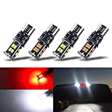 KISLED 12-24V Extremely Bright 194 912 921 168 175 2825 W5W T10 T15 LED Bulbs for Chevrolet Dodge Ford GMC Honda Nissan Toyota Truck 3rd Brake Lamp Cargo Lights, White/Red