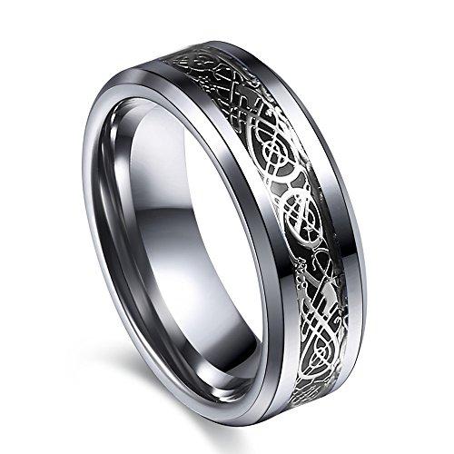 Littlefinger Retro Dragon Ring For Men Stainless Steel Male Ring Jewelry