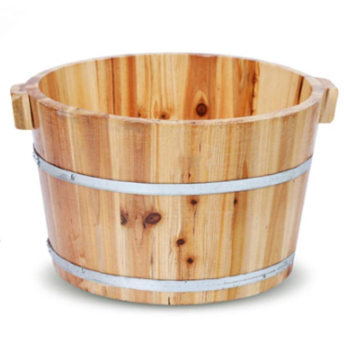 ゴールデン百科事典空港マッサージクッション 香りのよいモミの足浴槽のバレル 24CMのフィートの浴槽 家の肥厚の足浴槽のバレル 足のマッサージ 疲労を除去し 質を改善しなさい睡眠 家族のギフト (Color : Wood color, Size : 36x24cm)