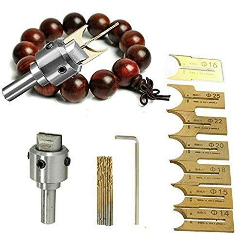 Preisvergleich Produktbild 16 STÜCKE Holzperlenhersteller Premium Perlen Bohrer Fräser Set Holzbearbeitungswerkzeug