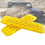 Pismire New Recovery Traction Boards, Traction Mats for Off-Road Mud, Sand, & Snow Vehicle Extraction (Set of 2) (yellow)