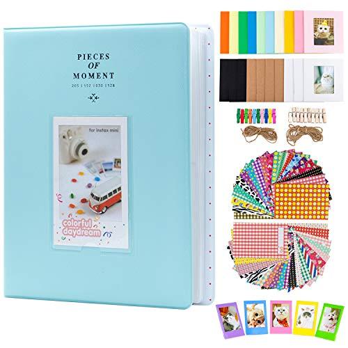 Amimy Fotoalbum Zubehör Bundles Set für Fujifilm Instax Mini 7s 8 8 + 9 25 50 s 70 90, Polaroid Snap PIC-300, HP Ritzel, Kodak Mini 3-Zoll-Film