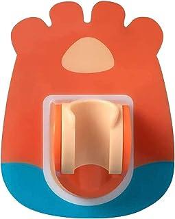 DANYU バスルームシャワーヘッドベースホルダー、壁掛け式ハンドシャワーブラケット、シャワーヘッドベースブラケット、調整可能なパンチフリー接着剤バスルームシャワーヘッドベース