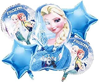 Brain Giggles 5 in 1 Frozen Theme Theme Foil Balloon Set