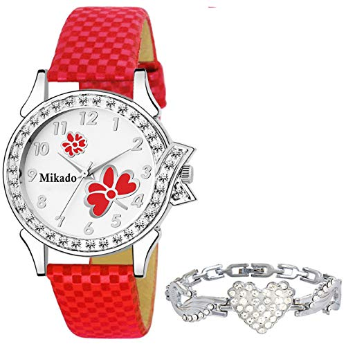 SWADESI STUFF Analogue Girls' Watch (White Dial Assorted Colored Strap)