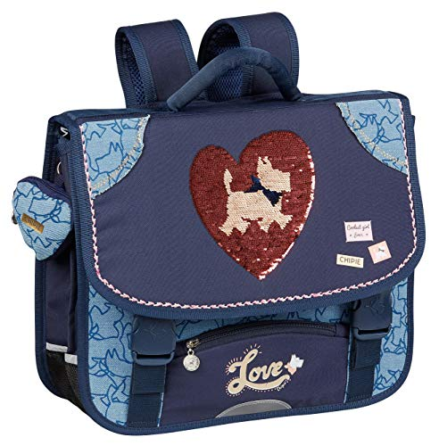 Cartable CHIPIE Heart Sequins, Gibecière 2...