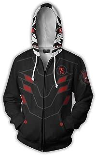 FANERR Genji Hoodie Jacket Cosplay Costume Sweatshirt for Boys Men