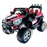 Actionbikes Motors Elektro Kinderauto Jeep 801 mit 2 x 25 Watt Motor Elektro Kinderauto Kinderfahrzeug in Mehreren Farben (schwarz/rot)