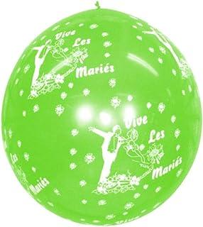 Ballon géant Vive les Mariés coloris divers Couleur Pistache
