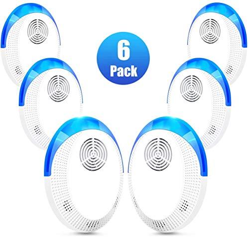 Skyfie Repelente de plagas ultrasónico, 2020 Upgrade Plug-in, repelente electrónico para insectos, ratones, hormigas, mosquitos, arañas, roedores, cucarachas, dispositivo seguro para niños y mascotas