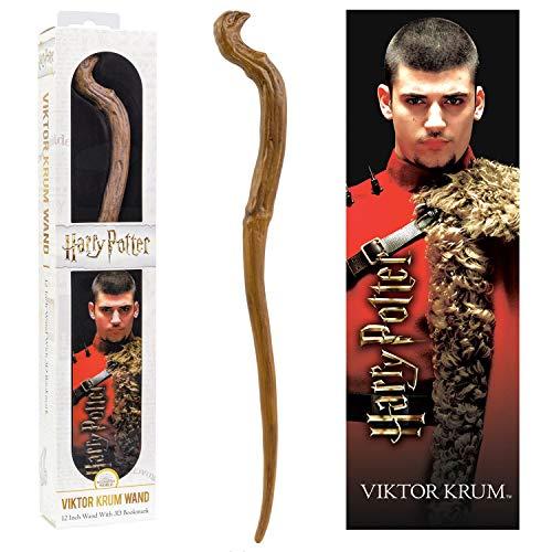 The Noble Collection - Varita de PVC Victor Krum de 30 cm con marcador prismático ...