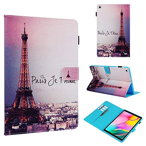 RZL PAD & TAB cases For Samsung Galaxy Tab A 10 1 2019, Cute Cartoon Painted Tablet Case With Pen Holder For Samsung Tab A 10.1 SM-T515 SM-T510 (Color : Iron tower)