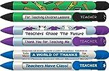 Greeting Pen Teacher Appreciation Trio Rotating Message 6 Pen Set (36076)
