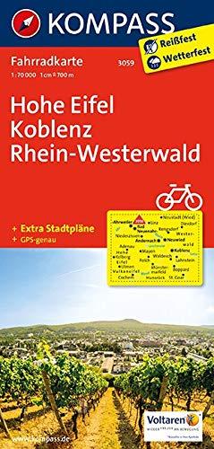 KOMPASS Fahrradkarte Hohe Eifel, Koblenz, Rhein-Westerwald: Fahrradkarte. GPS-genau. 1:70000 (KOMPASS-Fahrradkarten Deutschland, Band 3059)