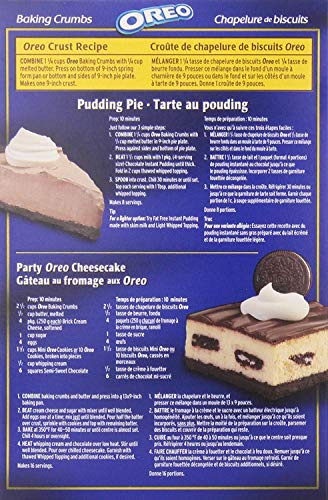 2 Pack Oreo Baking Crumbs 400 Gram/14.10 Ounces {Imported from Canada}
