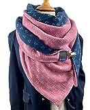 Anker Musselin XXL Dreieckstuch, Tuecherfee Musselin Tuch mit einem süßen Clip, wunderschön in rosa, dunkelblau, weiß Halstuch, Schal, wendbar, XXL Tuch mit Verschluss