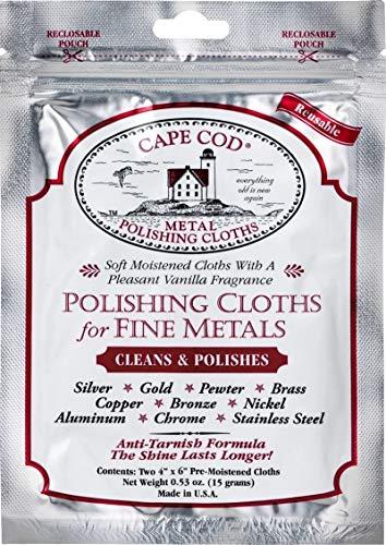 Cape Cod Metal Polishing Cloths - foil pouch