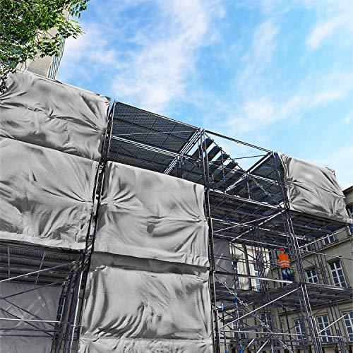 Windscreen4less 10' x 12' Heavy Duty 10 Mil Waterproof Silver Poly Tarp