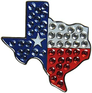 featured product Navika Texas Flag Swarovski Crystal Ball Marker with Hat Clip