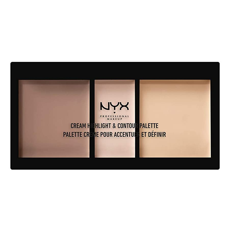 うまくやる()北極圏困難NYX(ニックス) クリーム ハイライト&コントゥアー パレット 01 カラー?ライト フェイスパレット