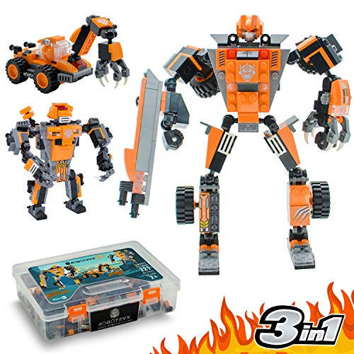 Jitterygit Robot STEM Toy   3 In 1 Fun Creative Set   Construction Building Toys For Boys Ages 7-14 Years Old   Best Toy Gift For Kids   Free Poster Kit Included