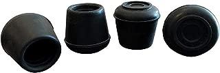 Shepherd Hardware 9125 5/8-Inch Inside Diameter Rubber Leg Tips, 4-Pack, Black