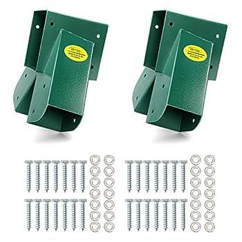 BETOOLL A-Frame 2 Brackets Swing Set Bracket with Mounting Hardware  Green