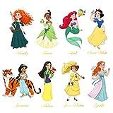 decalmile Pegatinas de Pared Princesa Vinilos Decorativos Habitación Guardería Niñas Infantiles Bebés